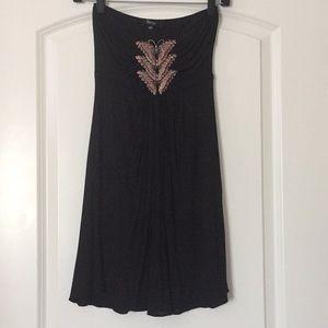 Sky black mini dress